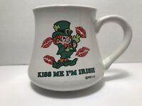 Vintage Wallace Berrie Kiss Me I'M Irish  #15 1982 3040 Coffee Mug