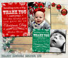 10 Personalised Christmas Thank You Cards Pack + Envelopes Blanks Xmas Gift Kids