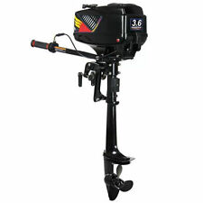 3.6HP Outboard Motor Boat Engine w/Water Cooling System Heavy Duty 2 Stroke