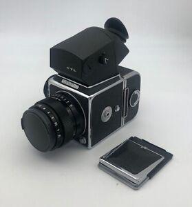Salyut-C TTL Arsenal medium format camera set with Vega-12 2.8/90mm CLA-ed EXC+