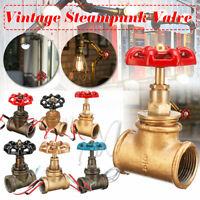 """1/2'' 3/4"""" Pipe Lamp Switch Valve Vintage Steampunk Industrial Table Light"""