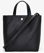 PROENZA SCHOULER Hex MINI paneled textured-leather tote bag - BLACK  color-NEW