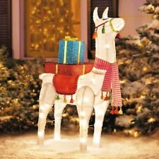 "40"" Lighted Festive Christmas Llama Sculpture Yard Decor (Free Shipping)"