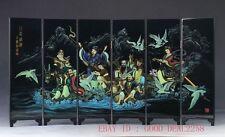 Good Chinese  Lacquerware Handwork Painting Character  Screen  PF008