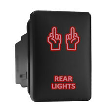 Rear Lights Red Led Backlit Short Push Button 128x 087 Fit Toyota