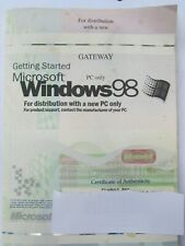 Windows 98 with Product Key & Disk