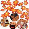 20 LED String Light Fairy Lamp Wedding Party Maple Leaf Xmas Fall Garland Decor