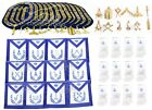 Masonic Aprons & Regalia Blue Lodge Officers Chain Collar and Gloves Set of 12