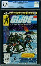 G.I. Joe #2 CGC 9.4 Marvel 1982 Key Copper! White Pages! L5 208 1 cm