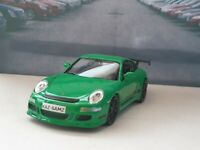 PORSCHE 911 GT3RS GREEN PERSONALISED DIECAST MODEL CAR BOXED NEW BOYS TOYS GIFT