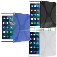 Pellicola+Custodia cover X-Style per iPad Pro 12.9 case TPU gel flessibile