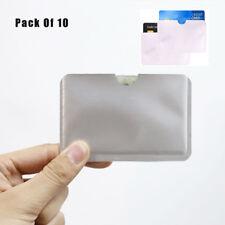 10 RFID Secure Credit Card Car Key Blocking Sleeves Holder Protector Case Shield