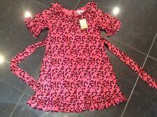 NWT Juicy Couture New & Gen. Pink Silk Blend Ruffle Frill Spot Dress Girls Age 8