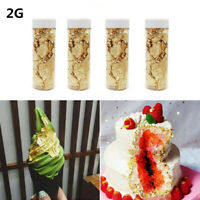 2G Edible Gold Leaf Foil Cooking Drink Food Cake Ice Cream Decoration Art Crafts