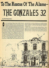 GONZALES 32 - HEROES OF THE ALAMO NAME & LISTED