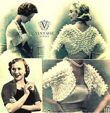 Vintage Visage Shrug knitting pattern-3 very easy and fashionable shrugs to make
