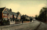 Moseley Birmingham England alte AK ~1920/30 Salisbury Road Straße Häuser Houses