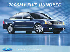 2006 Ford Five Hundred 500 Original Dealer Brochure Fact Sheet