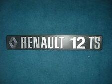 Emblem / Badge Renault 12 TS ca. 220x35mm, 2 Befestigungsstifte Pins