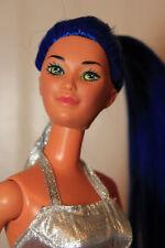 Moonlight Blue! Silky Royal Blue Straight Hair PT Reroot Kira Doll OOAK