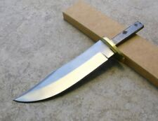 "Knife Making Fixed 4 1/2"" Blade Blank with Brass Guard Hidden tang Hunter DIY"