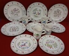 JOHNSON BROTHERS china TWELVE DAYS OF CHRISTMAS 12-piece SET SERVICE for 4