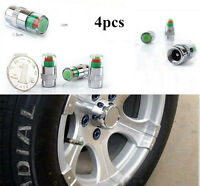 4PCS Car Auto Tire Pressure Monitor Valve Stem Caps Sensor Indicator Alert