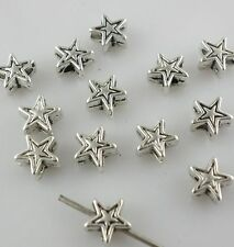 120/1000pcs Tibetan Gold/Silver 6*3mm Charms Pentagram Stars Spacer Beads