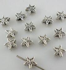 120/1000pcs Tibetan Gold/Silver 6*3mm Charms Pentagram Stars Spacer Beads