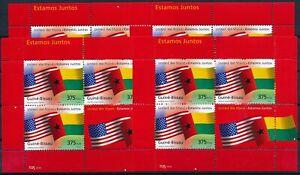 [P15365] Guinea Bissau 2002 : Flags - 4x Good Very Fine MNH Sheet