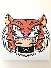 "Mounted Canvas Tigress Print 12""x12"""