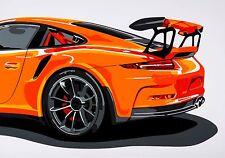 PORSCHE 911 GT3RS Super Auto Sportiva Pop Art Edizione Limitata Firmata Art Prints