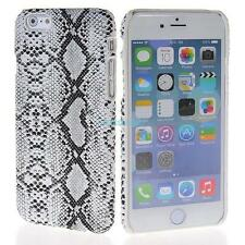 Apple Iphone 6 6S 4.7 cover case protective hard back Snakeskin snake skin white