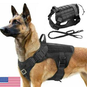 NEW Tactical Police K9 Training Dog Harness Military Adjustable Nylon Vest