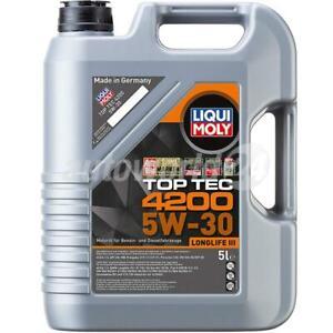 Liqui Moly Top Tec 4200 5W-30 Motoröl 5 Liter LongLife BMW, Mercedes, VW 507 00