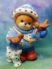 Enesco Lucy and Me Lucy Rigg winter bear with birds and dalmation