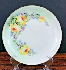 Vintage HUTSCHENREUTHER Plate Hand Painted Flowers Porcelain Buchanan Studio