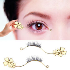1 Pair Graft Eyelash Model On Try-in Stripe Fake Eye Lash Maker Showing Board