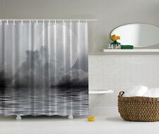 """GIANT MOON OVER FOG CLOUDY CALM OCEAN WATER 70"""" Fabric Bathroom Shower Curtain"""