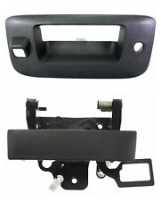 NEW Tailgate Handle & Bezel w/ Camera Hole Black for 2007-2013 Silverado Sierra