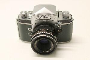 RARE GREEN SKIN IHAGEE DRESDEN SLR camera EXA II +MEYER-OPTIK 50mm Lens exakta