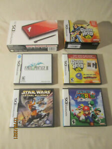 NINTENDO DS LITE GAME & CONSOLE LOT IN BOX ~ 4 GAMES ~ EXCELLENT CONDITION