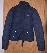 Womens Hollister Jacket Coat Size Large Navy Blue Down Filled