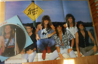 EX/EX BON JOVI SLIPPERY WHEN WET VINYL LP PICTURE PIC DISC + POSTER