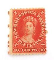 .NEWFOUNDLAND 1860s QV 10c MH REASONABLE GRADE STAMP.