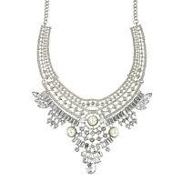 Fashion Women Pendant Chain Crystal Choker Chunky Bib Statement Necklace Jewelry