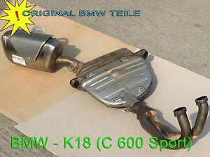 BMW  K18 C 600 Sport  Auspuff Abgasanlage  Abgaskrümmer mit Endschalldämpfer