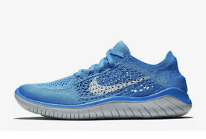 Nike Women's Free RN Flyknit 2018 Blue Grey Running Shoes 942839-400 Size 11