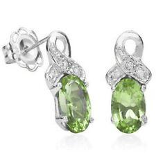 Ohrringe/Ohrstecker Jamie, 925er Silber, 0,95 Kt. echter Peridot/Diamant
