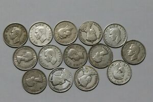 NEW ZEALAND 6 PENCE COLLECTION WITH SILVER B38 DD46